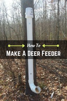 How To Make A Homemade Deer Feeder Youtube Outdoors