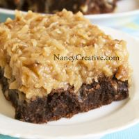 Over The Top German Chocolate Brownies | NancyCreative