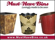We all different elements and styles of bins to fit your interiors! Browse our selection today! #Interiors #HomeDecor #Luxury #Bins