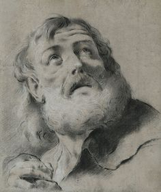Giovanni Battista PIAZZETTA (Venise 1682 – 1754)  « Tête de Saint Pierre »