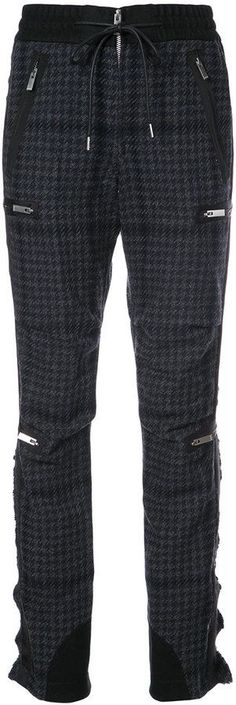 Sacai houndstooth bondage trousers