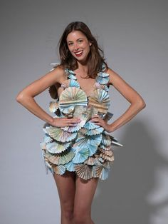 Dress made of maps