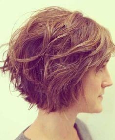 Wave graduated haircut #textured
