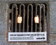 Every day thousands of streets kides are sent to jail - Unicef