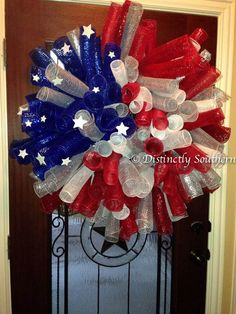 Beautiful XLarge Patriotic Outdoor DecoMesh by DistinctlySouthern, $65.00