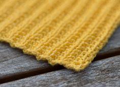 Strikket gul klut, oppskrift nr. 4 – Tove Fevangs blog Bebe