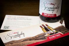 Serendipity Vineyard tasting note rackcard design