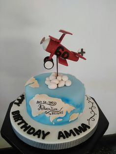 Foer the aviation enthusiast. Birthday cake designed and created by Yamuna Silva