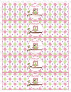 Baby Shower Water Bottle Labels  DIY by CelebrateLifeCrafts, $3.50