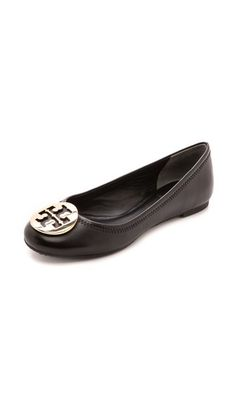 2b7fb29520a0 Tory Burch Reva Ballet Flats size 8 Black Ballet Shoes