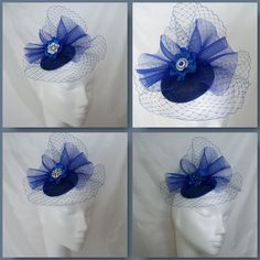 The Royal Blue Elizabeth Fascinator Mini Hat, Order Now from www.indigodaisyweddings.co.uk Specialising in stunning bespoke cocktail fascinators and formal hats in a wide range of colours, perfect for Royal Ascot and The Kentucky Derby. Plus all your wedding floral accessories including shoe clips, vintage flapper bands, feather and flower fascinators, feather fans, fairy wands, wrist corsages, wedding bouquets & buttonholes. Worldwide Delivery.