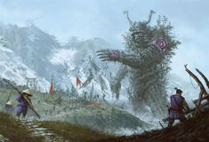 9 1 - Bizarre Paintings of Mecha Robots and Werewolves Attacking Peasants