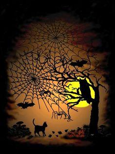 'Halloween Night' von artkszp bei artflakes.com als Poster oder Kunstdruck $16.63