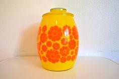 Bartlett Collins Cookie Jar  Orange Yellow by TheCottageCheese, $42.00