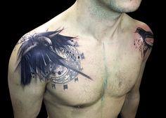 Shoulder tattoo done by Santa Perpetua at Black Sails tattoo (Brighton, UK)