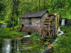 Old Watermill nature green forest old stream creek watermill