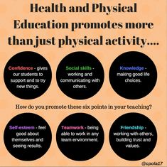 Health & Physical Education promotes more than just physical activity.. #physed