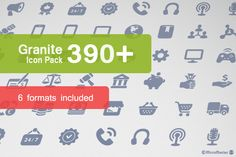 Granite Icon Pack – a set of 390 simple vector icons Png Icons, Vector Icons, Icon Pack, Granite, Cool Designs, Packing, Photoshop, Graphics, Texture
