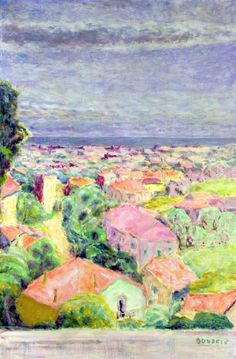 "bofransson: "" View of Cannet, c.1940 - Pierre Bonnard """