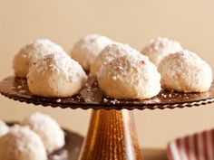 """Peppermint Meltaways Kelsey Nixon describes her cookies as just what the holiday season ordered: """"A meltaway cookie does just what it sounds like it should do ... it melts in your mouth! Coating the warm cookies in powdered sugar and crushed peppermints drives home that classic holiday flavor. The chocolate hidden on the inside pairs great with the peppermint and ends up being a great bonus!"""""""