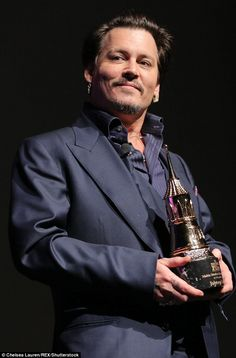 Special honour: Johnny was being presented with the special Maltin Modern Master Award Johnny Depp Characters, Johnny Depp Fans, Young Johnny Depp, Johnny Was, Handsome Actors, Hot Actors, Jonh Deep, Johnny Depp Pictures, Captain Jack Sparrow