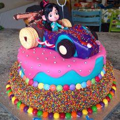 Vanellope von Schweetz Wreck It Ralph cake by Richard Burr