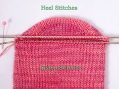 Heidi Bears: Two-at-a-Time Socks on a Magic Loop: The Heel Part 2
