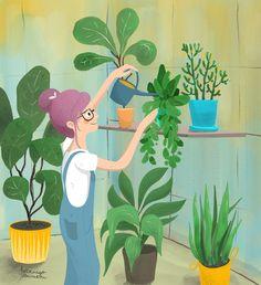 childrensbook illustration, illustration, custom illustration, digital art, ipadpro, procreate Plant Illustration, Illustrator, Dinosaur Stuffed Animal, Digital Art, Plants, Animals, Home Decor, Animales, Decoration Home