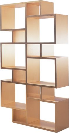 Tower — Storage unit with a dynamic grid composition. A rational, organized shelf to display worthy of your prized possessions. This unit finished in high gloss gold lacquer.