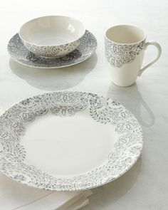 Four-Piece Marchesa French Lace Place Setting by Lenox at Horchow.