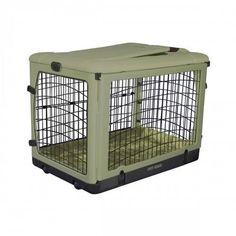 The Other Door Sage Steel Dog Crate – Bark Label