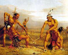Sioux ball game ('Juego sioux de pelota') (Charles Deas 1843).