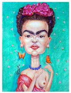 """A  pintora """"FRIDA KAHLO"""" ... uma das maiores  artistas  do séc.XX  ...tecnica lapis aquarelavel - by Daniel Filho"""