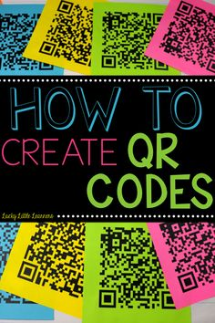 Lucky Little Learners: How to Make a QR Code