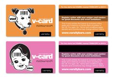 Varsity V-card loyalty card for students