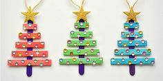 Turn Popsicle Sticks Into Glittery Christmas Tree Ornaments - GoodHousekeeping.com