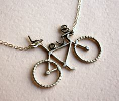 Abstract Love Bike Necklace Handmade by RachelPfefferDesigns, $84.00