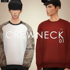 My Sims 4 Blog: Crew Neck Sweaters for Adult Males by YoungZoey