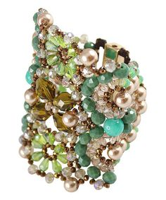Look what I found on #zulily! Clear & Green Mesmerizing Fields Bracelet #zulilyfinds
