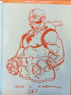 Kim Jung Gi Book Signing Junggi Kim, Character Art, Character Design, Manga Poses, Figure Sketching, Kim Jung, Human Art, Ink Pen Drawings, Book Signing