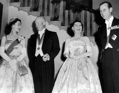 20 October 1957: The Queen and Prince Philip meet US President Dwight D Eisenhower and his wife Mamie at the White House