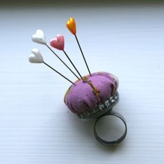 A #diy pin cushion ring!  Too cute from #prudentbaby