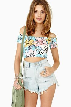 Island Crush Crop Top by Nasty Gal