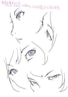 「目の描き方を考える。」