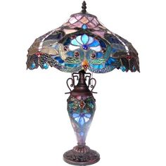 Victorian Table Lamps, Leaded Glass, Stained Glass, Victorian Design, Turquoise Glass, Tiffany Lamps, Candelabra Bulbs, Glass Design, Light Table