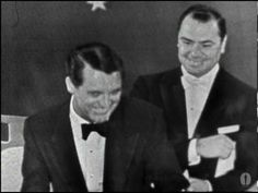 """Ingrid Bergman winning an Oscar® for """"Anastasia"""" - Cary Grant accepted for her."""