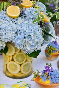 Mosaic Flower Pots, Flower Vases, Flower Arrangements, Flower Centerpieces, Lemon Vase, Apple Dumpling Recipe, Peach Dumplings, Spice Cake Mix, Fruit Cobbler
