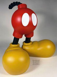 Figura Toy Art Mickey Friendly Fire de Jason Freeny - Eu quero!