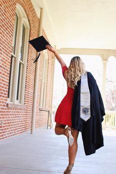 Grad Graduation Senior Portrait Pictures College Champagne cap gown decoration dresses