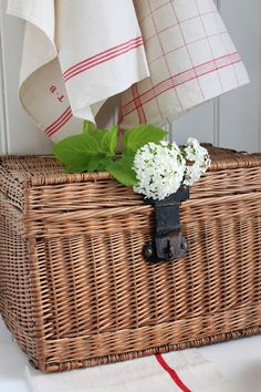 When I was young, baskets like this one were used for sending dirty linen to the laundry